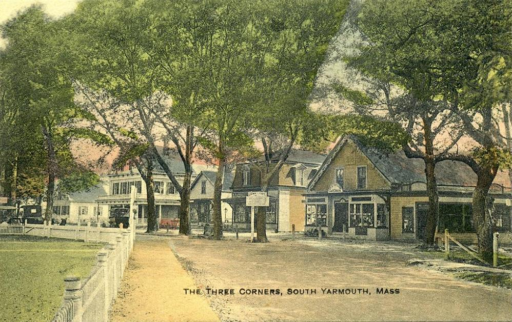 The Three Corners Area (South Yarmouth, MA) circa 1910