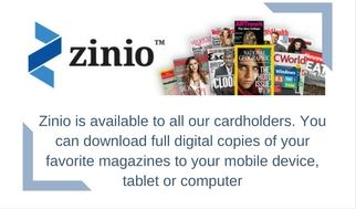 Zinio is available to all our cardholders. YOu can download full digital copies of your favorite mag