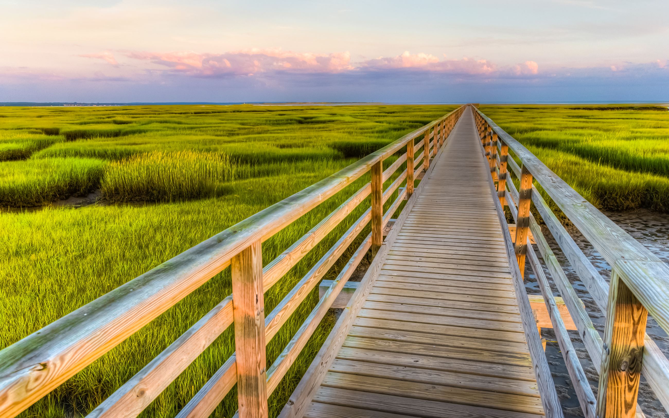 Bass Hole Boardwalk - Sunset